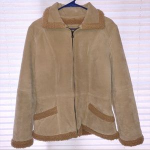 RARE Guess Wool/Leather Jacket!!